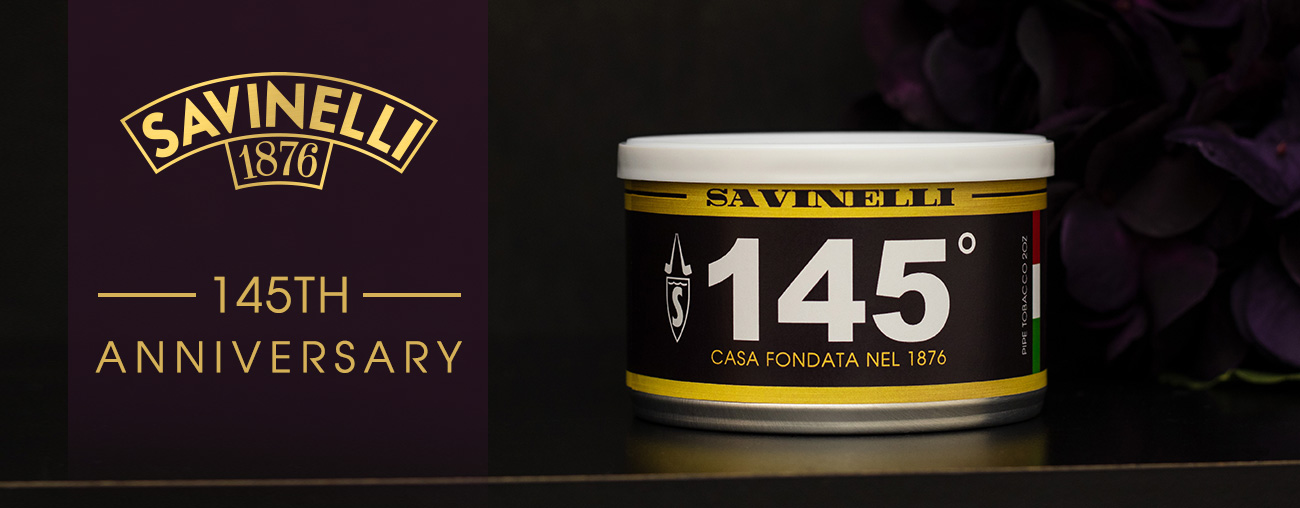 Savinelli 145th Anniversary Tobacco at Laudisi Distribution Group
