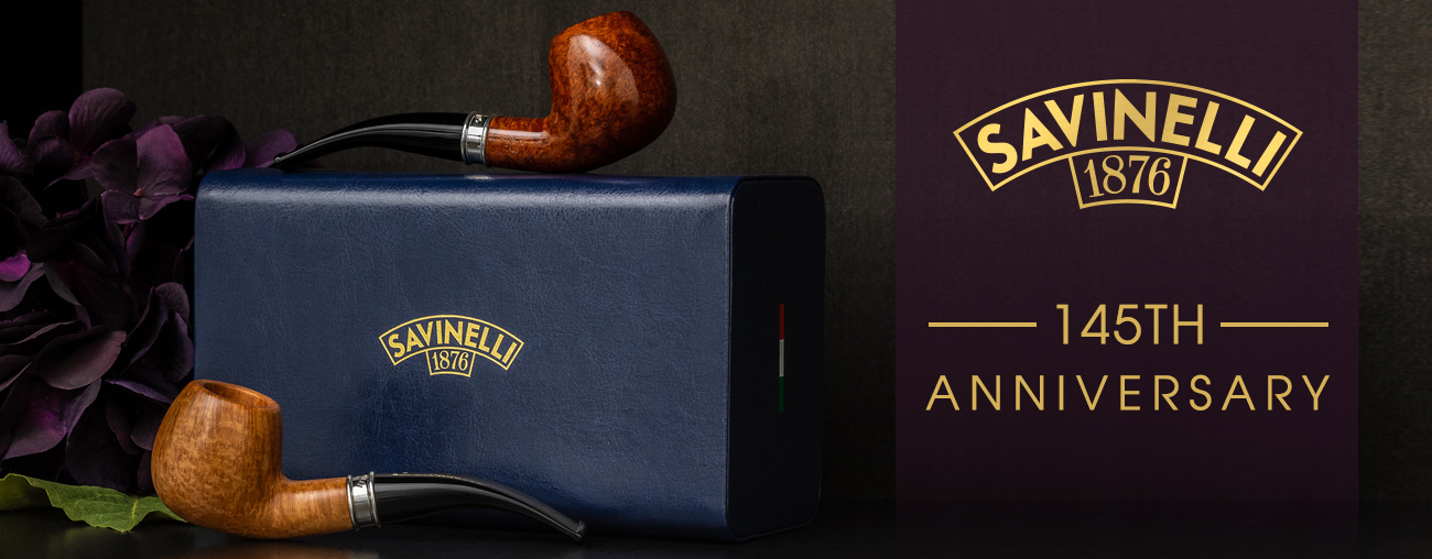 Savinelli 145th Anniversary Pipes at Laudisi Distribution Group